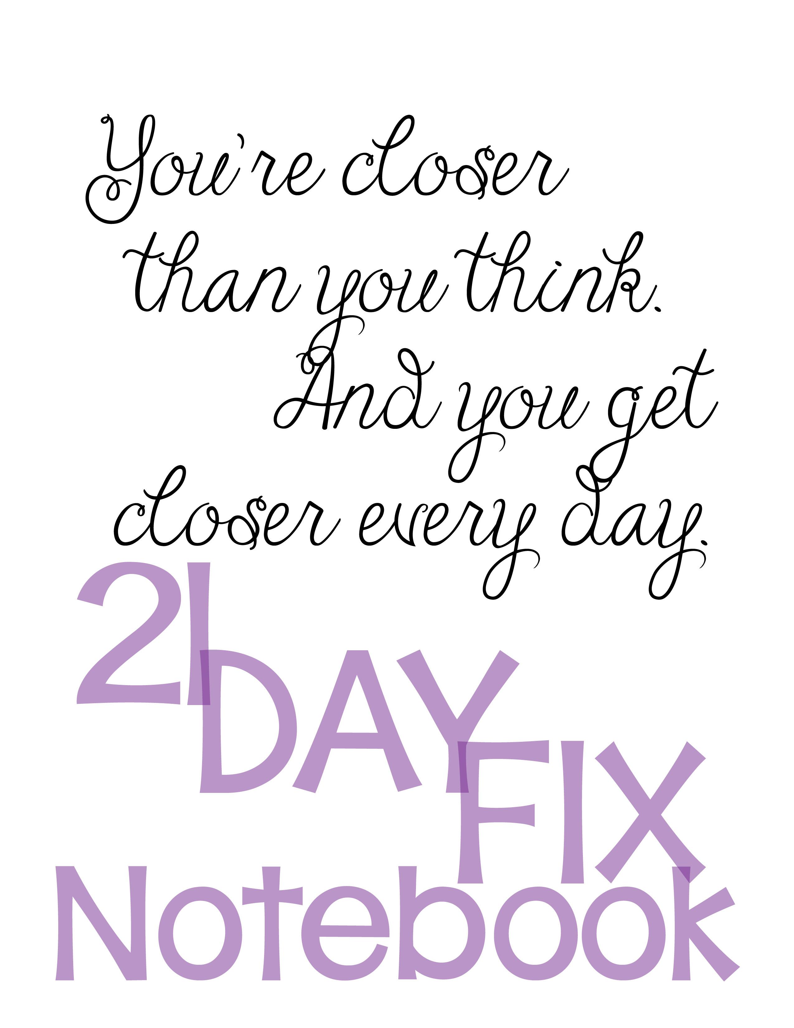 21-Day Fix Printables