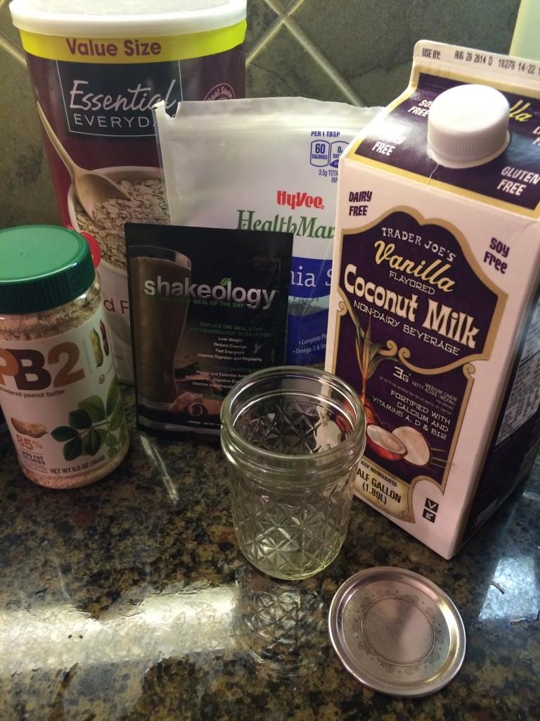 overnight oatmeal chia breakfast pudding