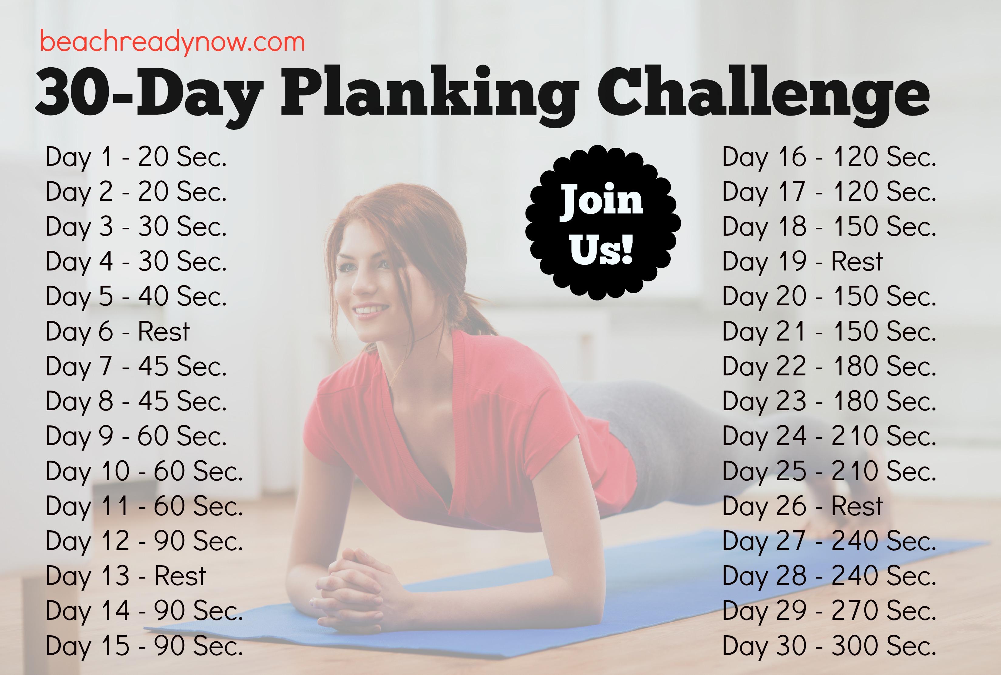 30-Day Planking Challenge