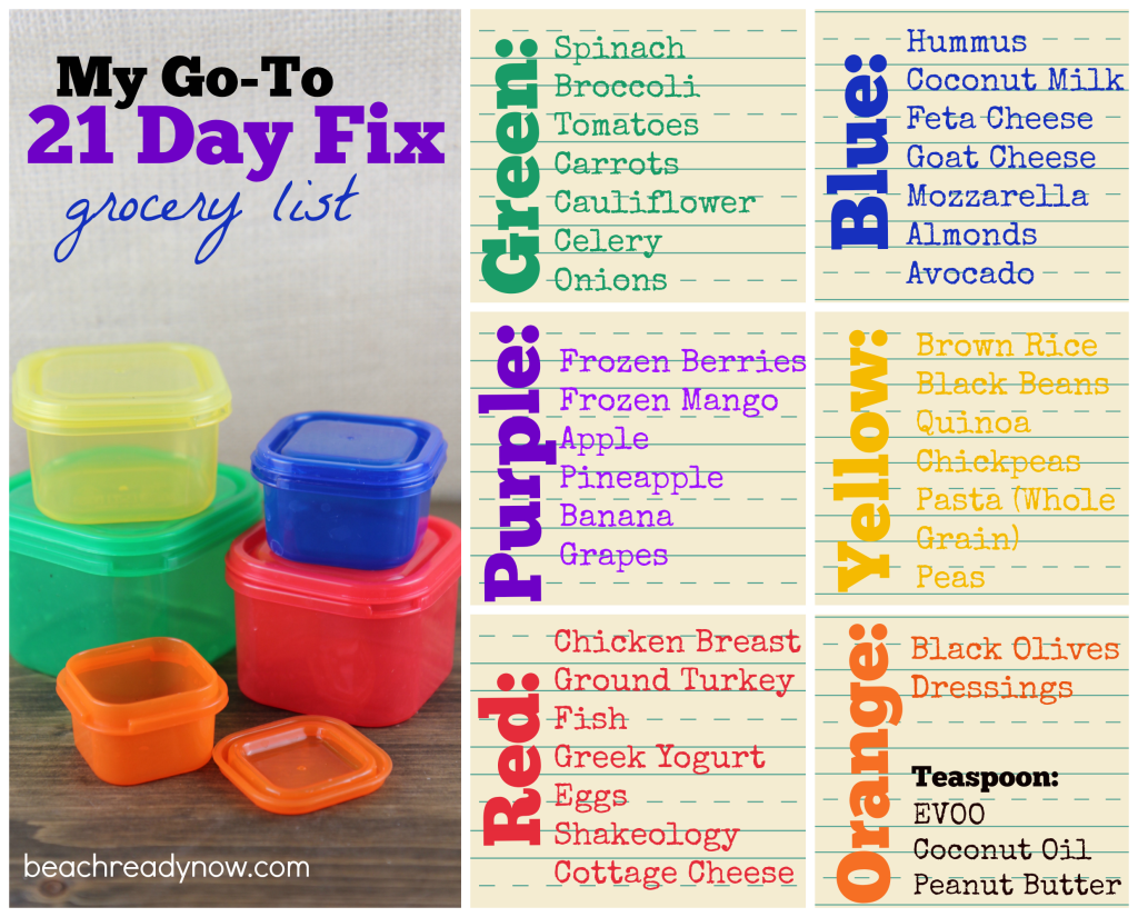 21 Day Fix Grocery List