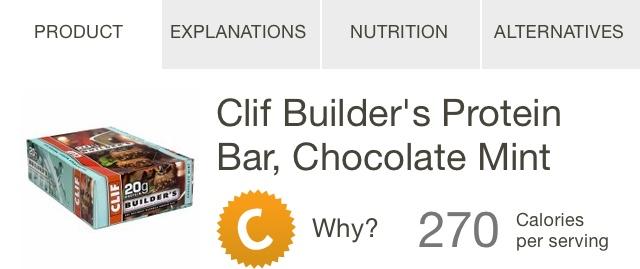 Clif Builder's Bar Rating