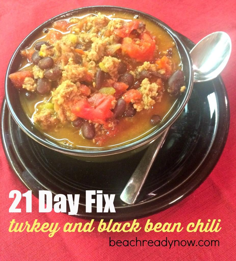 21 Day Fix Turkey and Black Bean Chilii