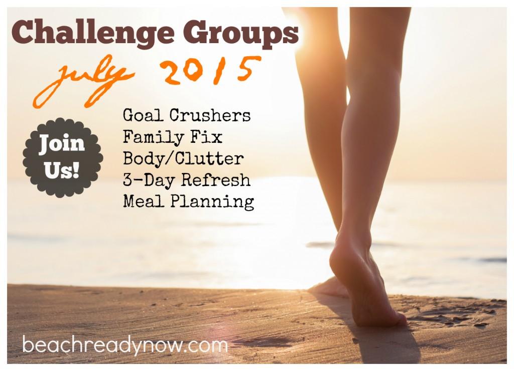 BRN July Challenge Groups 2015