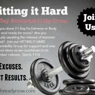 """Hitting it Hard"" Accountability Group Starts November 9th"
