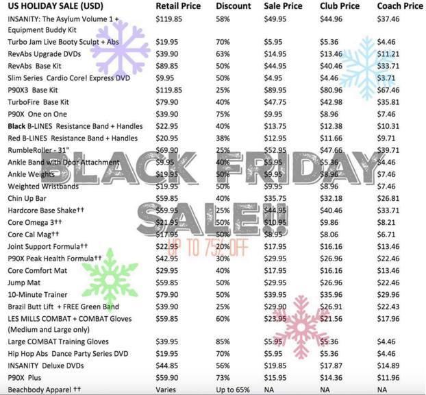 Beachbody Black Friday Sale 2015