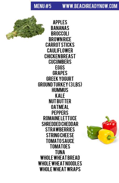 21 Day Fix Aldi Meal Plan #5 - Beachreadynow.com