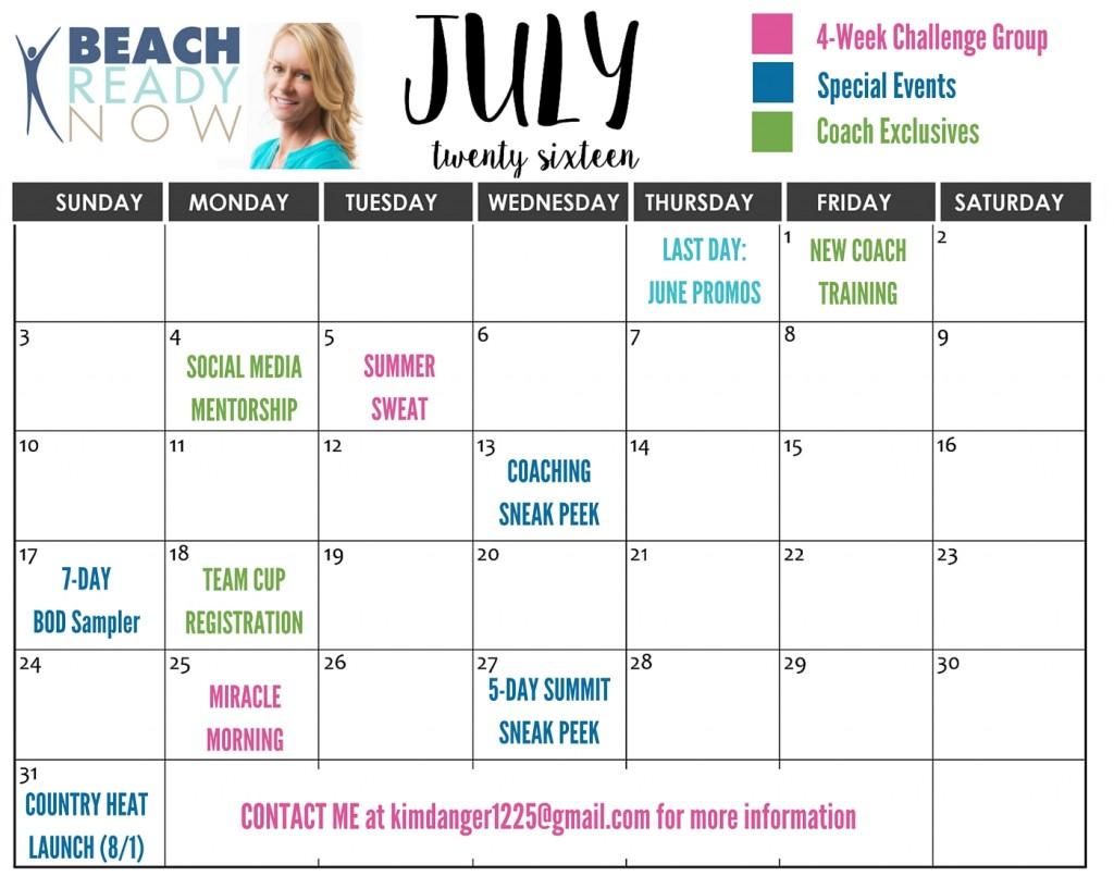 July 2016 Challenge Groups