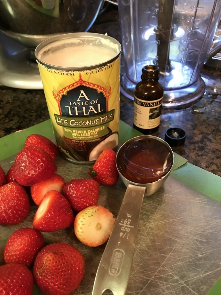 strawberries and cream chia pudding